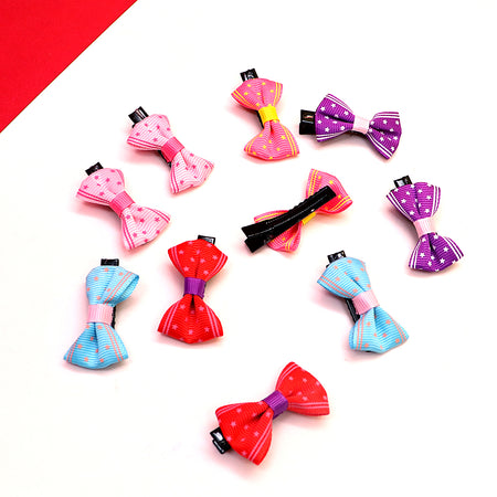 Pack of 2 Canvas Star Printed Bow alligator Hair Pins