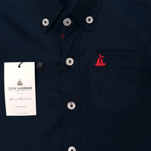 Crew Harbour Kids Navy Signature Oxford Casual Shirt (CR-10101)