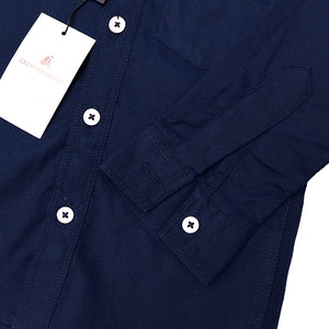 Crew Harbour Kids Mid Navy Signature Oxford Casual Shirt (CR-10107)