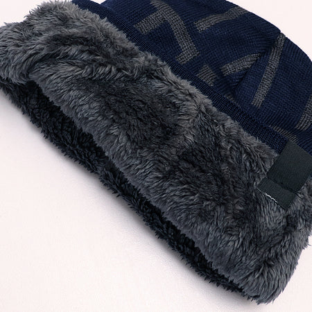 EXO Fur Lined Textured fitted beanie Cap (CP-1928)
