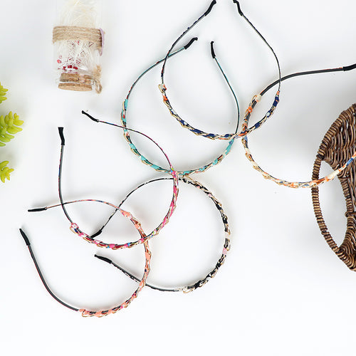 Fabric Wrapped Metal decorated Hair bands