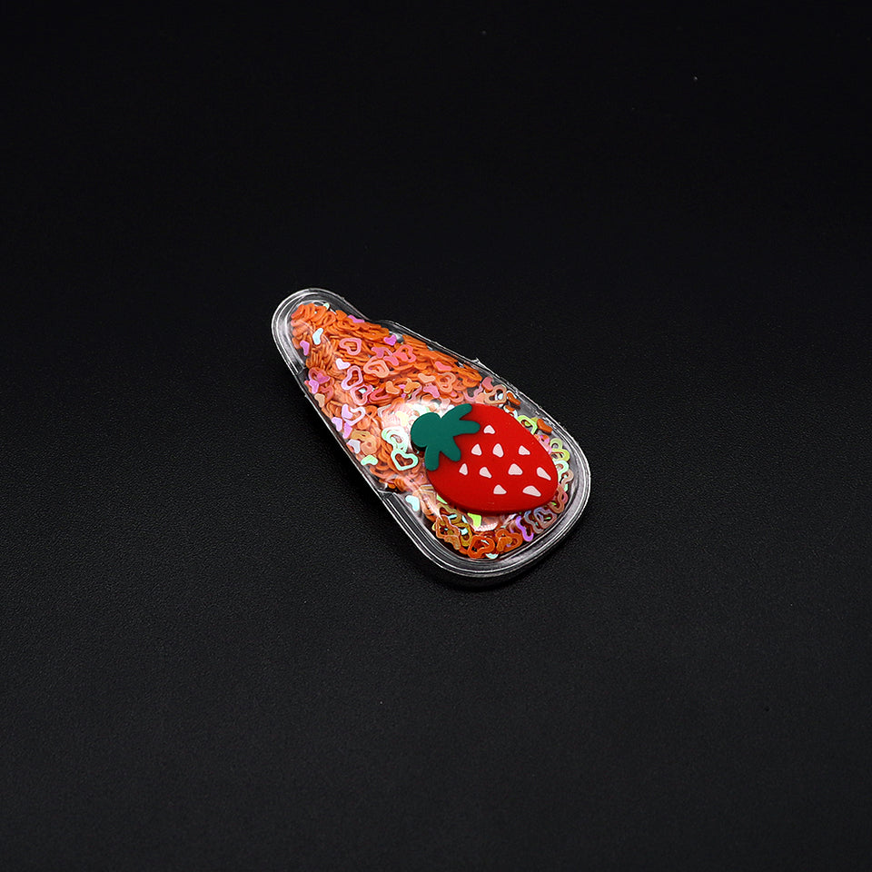 Sparkle Filled Fruited Decorated Tick Tack Hair Pins