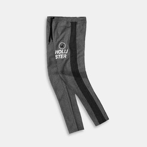 Racer Striped Graphic Open Bottom Slim Fit Fleece Trouser (HO-10123)