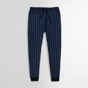 Dyed Yarn Marl vertical Striped close bottom Trousers (HO-10121)