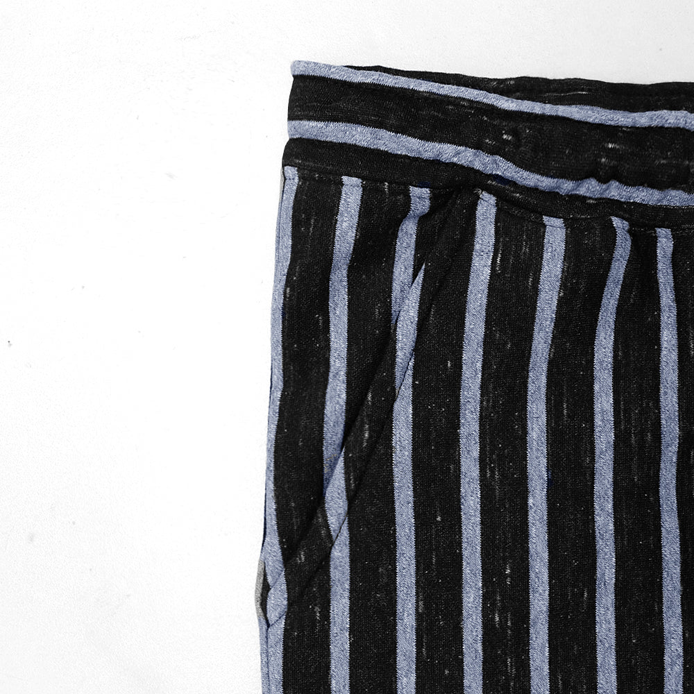Dyed Yarn Marl vertical Striped close bottom Fleece Trousers (HO-10129)