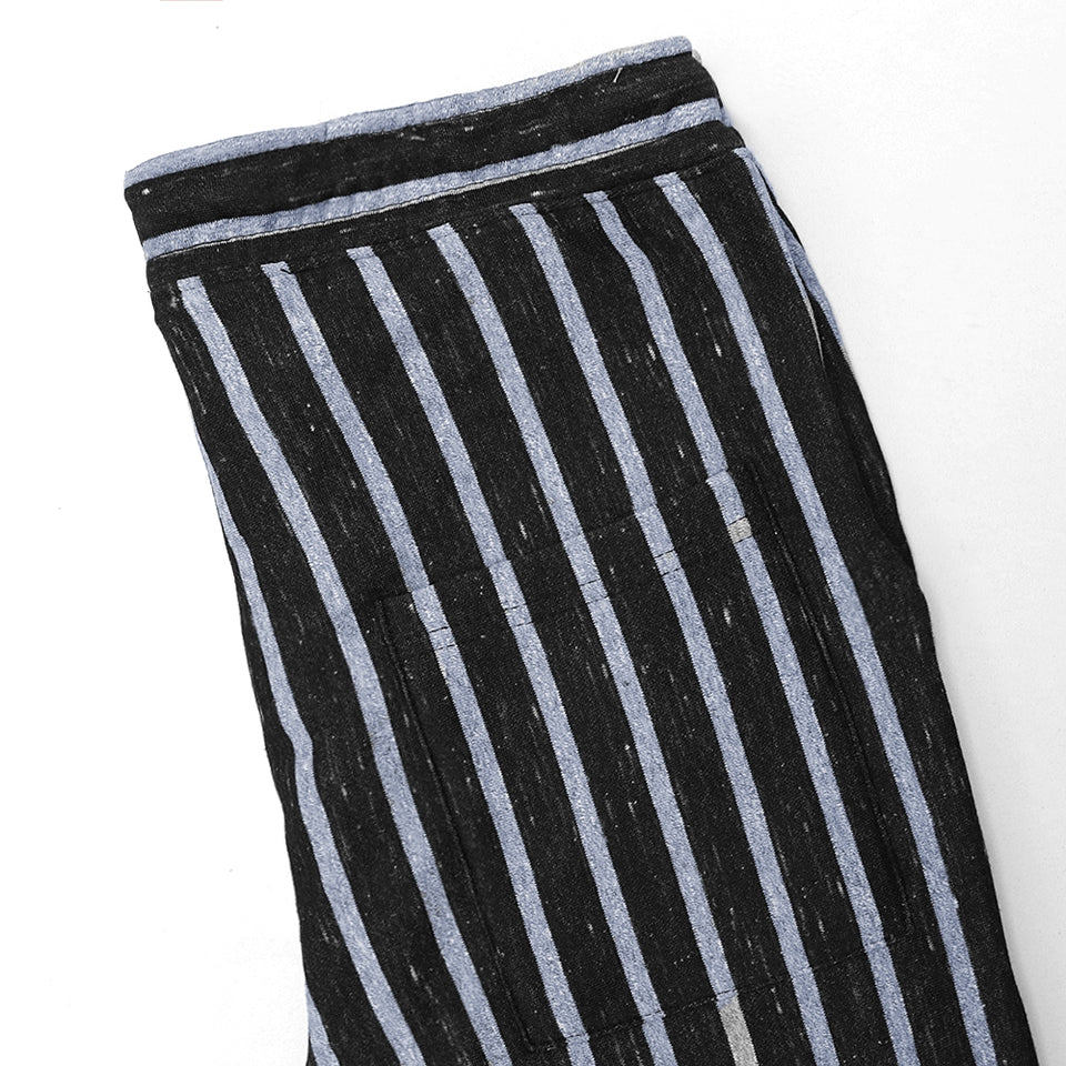 Dyed Yarn Marl vertical Striped close bottom Trousers (HO-10129)