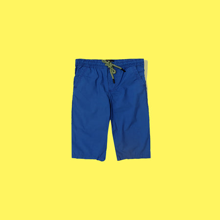 RE Boys Royal Blue Pure weaved cotton poplin Rugby shorts  (RE-5069)