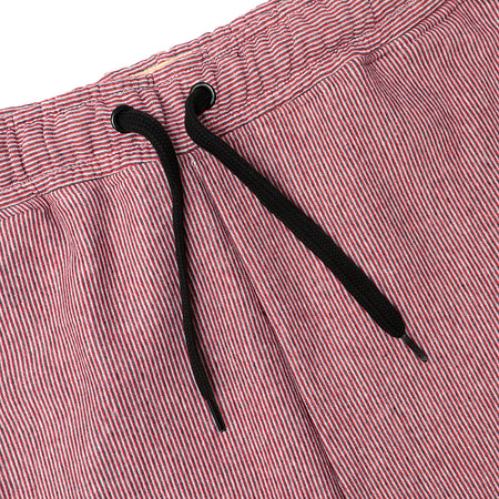 Dyed Yarn vertical Thin Striped Open bottom Trousers (HO-10128)