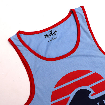 Slim Fit Ringer Graphic print Casual Vest (HO-997)