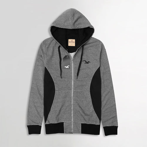 Striped Graphic Zipper Hoodie with Side Panels (HO-10132)