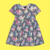 Picpino Girls Imported All over Floral printed Stretched frock Dress  (PC-5134)
