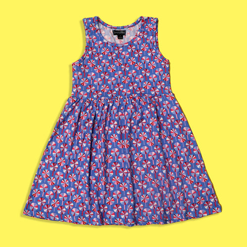 Picpino Girls Imported All over Lolly-pop printed Stretched frock Dress (PC-5132)