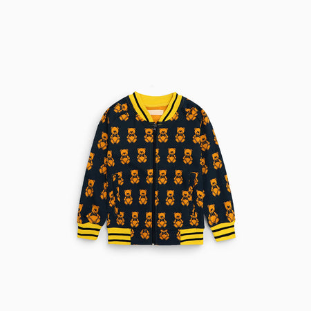 ZR kids Teddy Bear Zip Through Bomber Jacket (ZA-2020)
