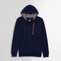 Men Essential Heavy Fleece Graphic Zipper Hoodie (TO-10616)