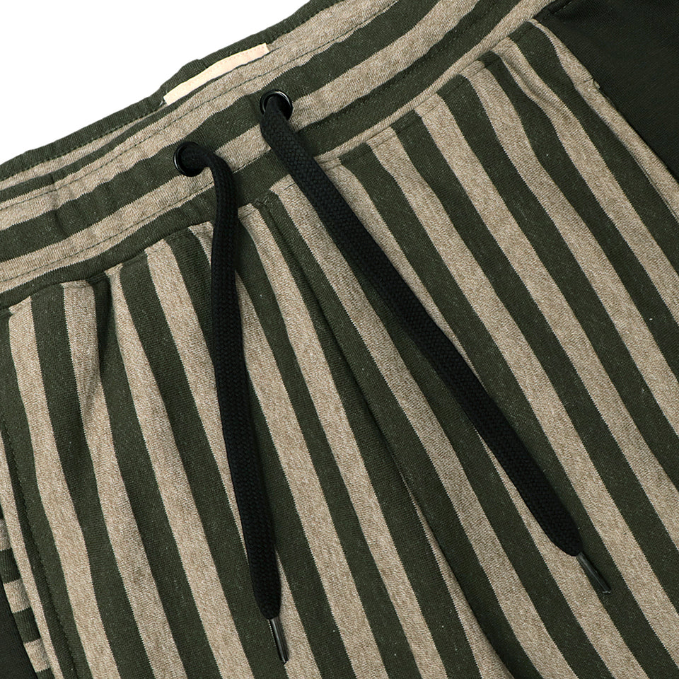Premium Vertical Striped Open Bottom Fleece Trousers (HO-10133)