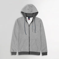 Men Essential Heavy Fleece Graphic Zipper Hoodie  (TO-10610)