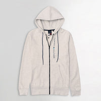Men Essential  Fleece Graphic Zipper Hoodie  (TO-11075)