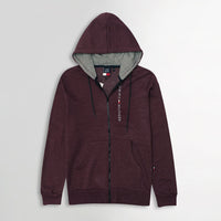 Men Essential  Fleece Graphic Zipper Hoodie (TO-10618)