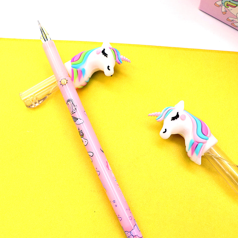 Supreme Quality Unicorn Head topper Gel pen