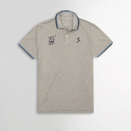GP Tipped Collar Textured embellished Polo Shirt  (GA-3227)