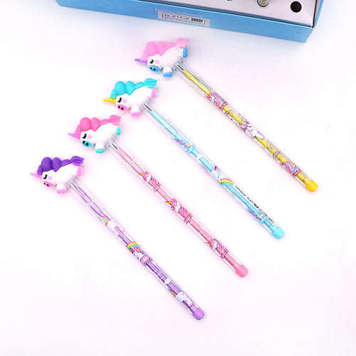 Top Quality Imported Baby Unicorn Topper Changing Lead Pencil for Kids