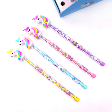 Top Quality Imported Unicorn Head Topper Changing Lead Pencil for Kids