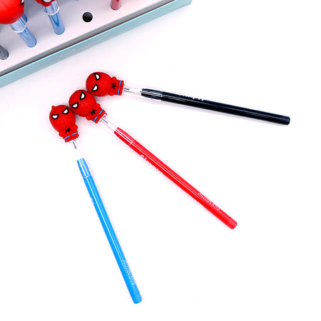 Top Quality Imported Spider man Head Topper Changing Lead Pencil for Kids