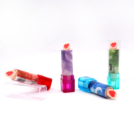 Cool 3D Printed Lipstick Shaped Lead Pencil Eraser for Kids