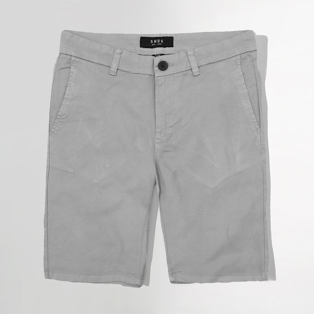 SMG Men Stretch Belt looped Grey Chino Shorts  (SM-5153)