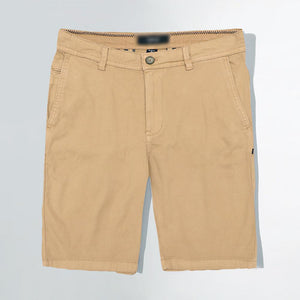 SMG Men Stretch Belt looped Popcorn Textured Khaki Chino Shorts  (SM-5148)