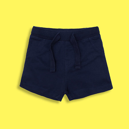 Baby Navy organic cotton shorts  (LU-5115)