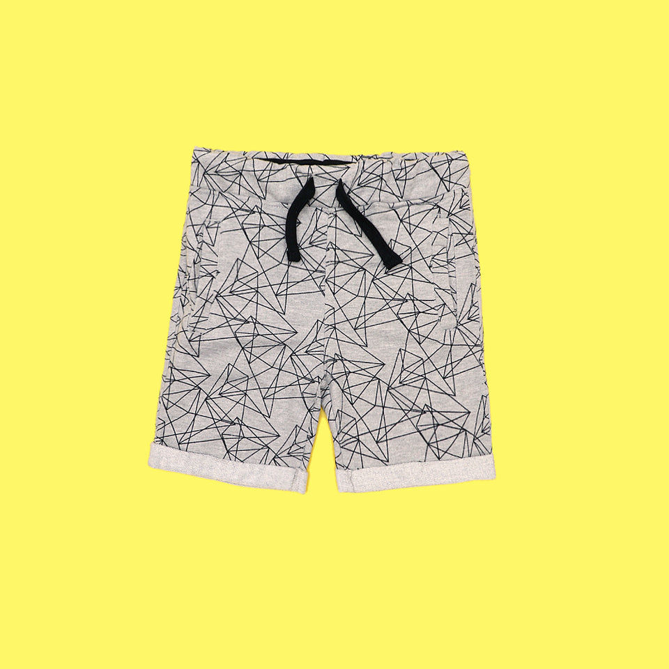 Boys exclusive grey patterned short (XS-3707)