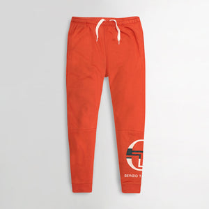 MEN  SOLID BURNT ORANGE SLIM FIT PRINTED JOGGER TROUSER (SG-10645)