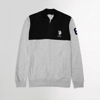 USPA Regular Fit TEXTURED Fleece ZIPPER JACKET  (US-11093)