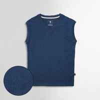Men Sleeveless Basic Slim Fit V Neck Sweater (IS-11111)
