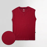 Men Sleeveless Basic Slim Fit V Neck Sweater (IS-11110)