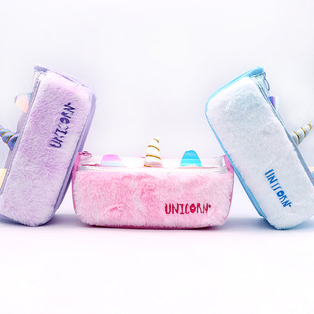 Unicorn Fluffy Multi Purpose Case for Girls