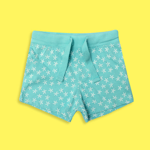 Babies All over printed Ribbed Waistband Jersey Shorts  (LU-5129)