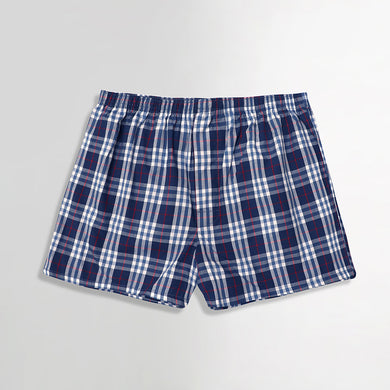 Reward Men Luxury Check Cotton Blend Boxer Shorts  (SH-5179)