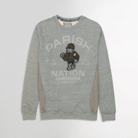 Men Menlange Fleece Paneled Graphic Applique & Pocket Sweatshirt  (PM-10661)