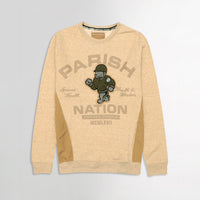 Men Menlange Fleece Paneled Graphic Applique & Pocket Sweatshirt  (PM-10659)