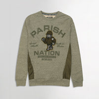 Men Menlange Fleece Paneled Graphic Applique & Pocket Sweatshirt (PM-10658)