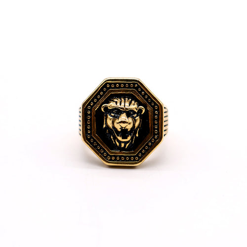 VR PREMIUM QUALITY ENAMEL MEDUSA MEDALLION RING (VE-2190)