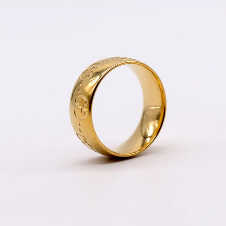 GCI PREMIUM QUALITY ICON RING WITH ENGRAVED INTERLOCKING G (GU-2189)