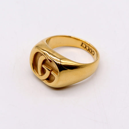 GCI PREMIUM QUALITY GG RUNNING YELLOW GOLD CHEVALIER RING (GU-2187)