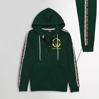 MEN PRINTED FOREST ZIPPER HOODIE WITH SIGNATURE WEAVE TAPE AT ARMS (SG-10655)