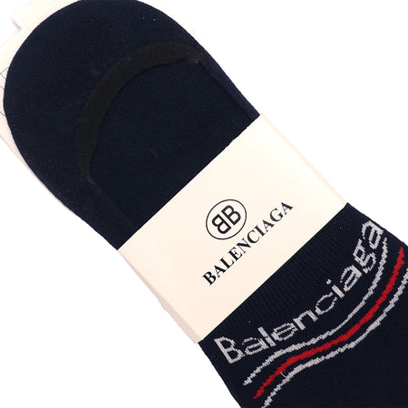 Navy Signature Cotton No Show Socks (BA-2142)