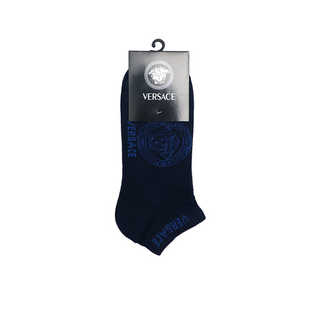 Monogram Navy Ankle Socks  (VE-2137)