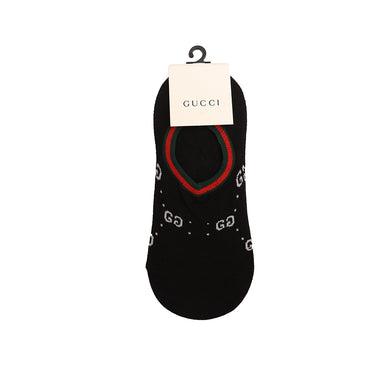 Black Signature Cotton No Show Socks (GU-2150)