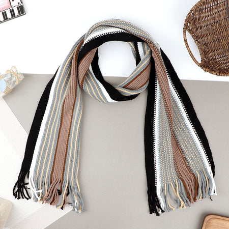 Warm woolen Striped Muffler (MF-20622)